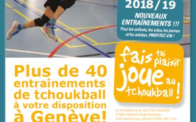 Encore plus d'entraînements de tchoukball disponible à Genève !!