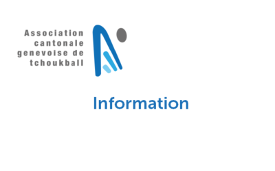 Annulation des activités de tchoukball dès ce soir vendredi 23 octobre 2020