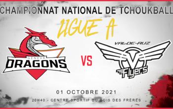 Vendredi 1 octobre 2021 à 20h45: Geneva Dragons – Val-de-Ruz Flyers Le match événement à suivre en direct sur place ou depuis chez vous !